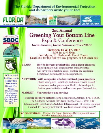 Greening Your Bottom Line Expo & Conference