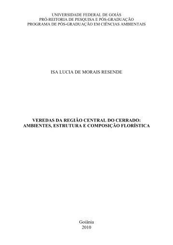 Isa Lucia de Morais Resende - PRPPG - CIAMB - UFG