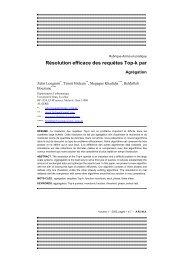 Résolution efficace des requêtes Top-k par Agrégation
