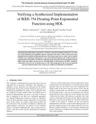 Verifying a Synthesized Implementation of IEEE-754 Floating-Point ...