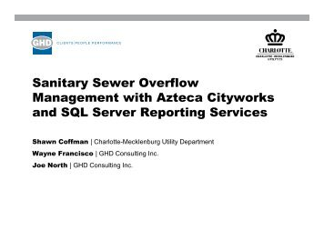 Sanitary Sewer Overflow Management with Azteca Cityworks d SQL ...