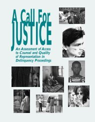 A Call for Justice: An Assessment of Access to Counsel and Quality