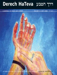 Derech Hateva V 12:Layout 1 - YU Torah Online