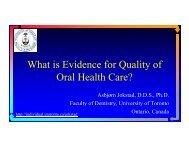 quality - Asbjorn Jokstad, Professor, Faculty of Dentistry, University ...
