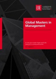 Global Masters in Management brochure