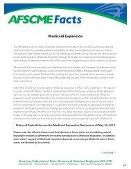 Fact Sheet: Medicaid Expansion - AFSCME