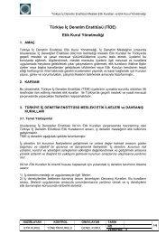 Türkiye İç Denetim Enstitüsü (TİDE) Etik Kurul Yönetmeliği