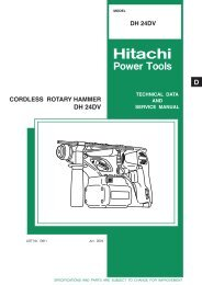 CORDLESS ROTARY HAMMER Model DH 24DV - Hitachi Powertools
