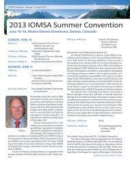 2013 IOMSA Summer Convention - International Oil Mill ...