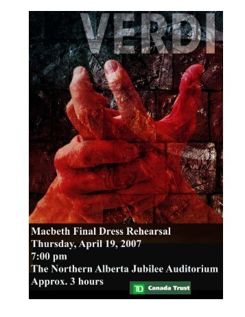 Macbeth - Edmonton Opera