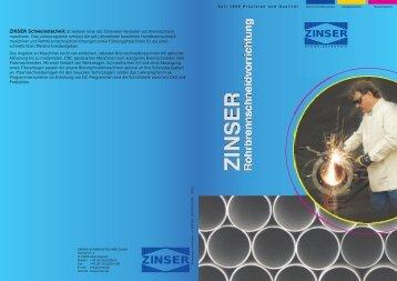 Prospekt RSV - Zinser Schweisstechnik GmbH