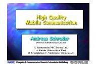 Mobility Manager - Andreas Schrader