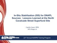 In-Situ Stabilization (ISS) for DNAPL Sources: Lessons Learned at ...