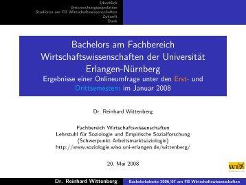 Bachelors am Fachbereich Wirtschaftswissenschaften der ...