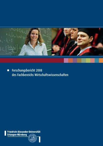 Forschungsbericht 2008 des Fachbereichs Wirtschaftswissenschaften