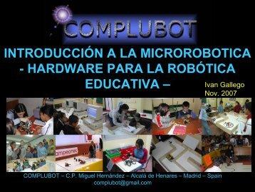 hardware para la robótica - Complubot