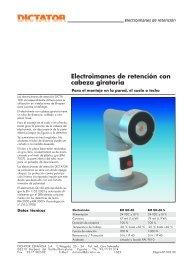 11 Electroimanes de retención con cabeza giratoria - Dictator