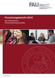 Forschungsbericht 2010 - am Fachbereich ...