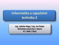 Základní informace, program cvičení - Technická univerzita v Liberci