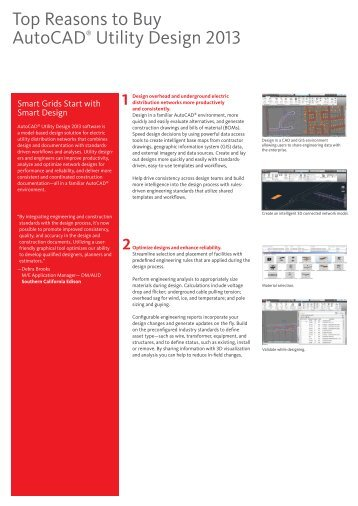 Top Reasons to Buy AutoCAD® Utility Design 2013