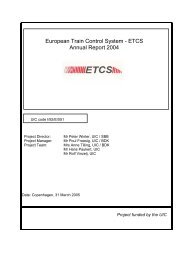 UIC Project Annual Report - ERTMS