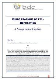 Guide pratique de l'E-Réputation à l'usage des entreprises