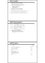 Mail Transfer SMTP Specification SMTP basics