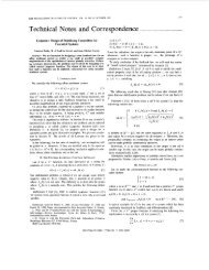 Lyapunov design of stabilizing controllers for cascaded systems ...