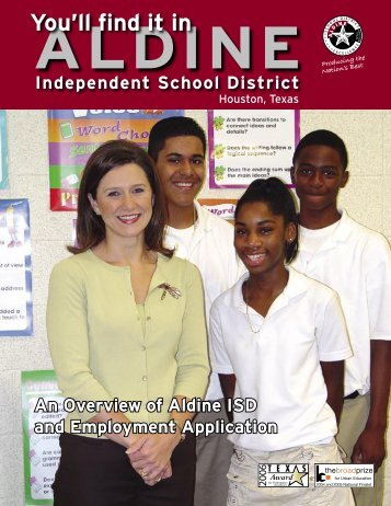 You'll find it in Aldine 2006.indd - Aldine Independent School District