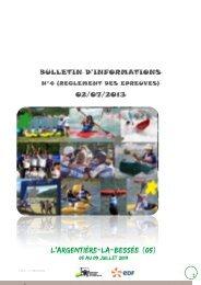 BULLETIN D'INFORMATIONS 02/07/2013 - FFCK