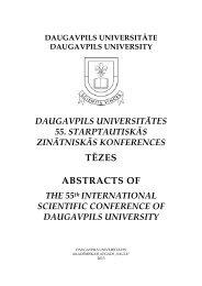 Daugavpils Universitātes 55.Starptautiskās ... - DU conference