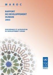 Gouvernance et accélération du développement humain - PNUD