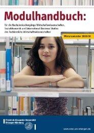 Module der speziellen BWL-Vertiefung für Studierende der ...