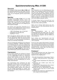 Speichererweiterung Mtec A1200 - Amiga Hardware Database