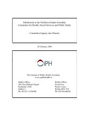 Access the full IPH submission to the Inquiry here - Institute of Public ...