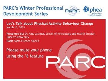 PARC's Winter Professional Development Series - PARC - The ...