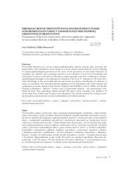 Examination of the level of preventive provisions against the ...
