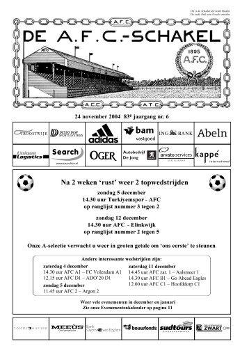 24 november 2004, 83e jaargang nummer 6 - AFC, Amsterdam