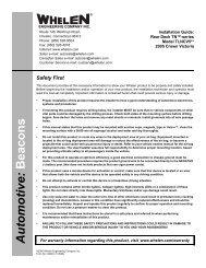 14004: Rear Deck TN-series model TLNCV5 - Whelen Engineering