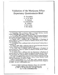 Validation of the Marijuana Effect Expectancy Questionnaire-Brief