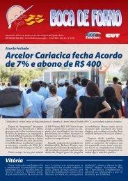 Arcelor Cariacica fecha Acordo de 7% e abono de R$ 400 - CNM/CUT