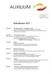 Kalendarium 2013 - Hospizverein Wiesbaden AUXILIUM eV