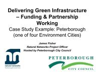 Delivering Green Infrastructure – Funding & Partnership Working