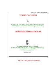 tender document - Vanbandhu Kalyan Yojana - Government of Gujarat