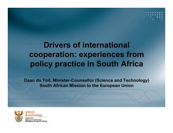 Drivers of international cooperation: experiences from policy ...