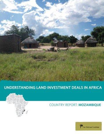 understanding land investment deals in africa - Oakland Institute