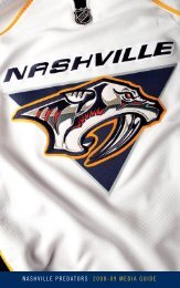 NASHVILLE PREDATORS 2008-09 MEDIA GUIDE - NHL.com