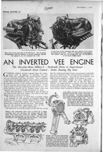An Inverted Vee Engine - WWII Aircraft Performance