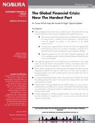The Global Financial Crisis - The Hong Kong General Chamber of ...