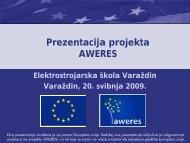 Elektrostrojarska škola Varaždin - MojaEnergija